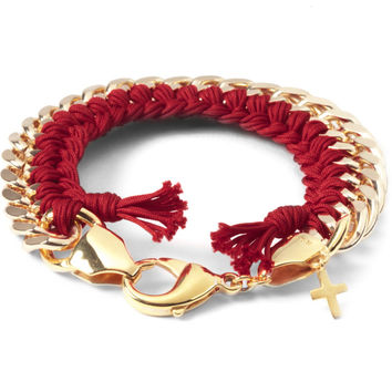 THE RHOD Red Classic Woven Bracelet | HYPEBEAST Store. Shop Online for Men's Fashion, Streetwear, Sneakers, Accessories