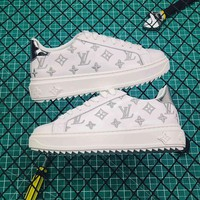 Louis Vuitton LV Time Out Silver Sneaker - Best Online Sale