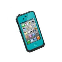 LifeProof FRE iPhone 4/4s Waterproof Case - Retail Packaging - TEAL/BLACK