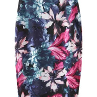 Floral Printed Pencil Skirt