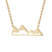 Fashion 2017 Snow Snowcap Mountain Jewelry Gold Silver multilayer chain accessories Boho Chic Maxi Mountain Necklace -03130