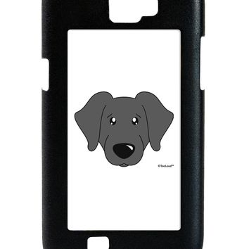 Cute Black Labrador Retriever Dog Galaxy Note 2 Case  by TooLoud