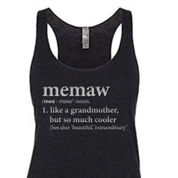 Definition of a Mimi Racerback Tank (Grandmother)