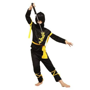 DCCKH6B New Halloween Costumes Japanese Ninja Warrior Clothing Red Clothes Children Ninja Suits Warrior Suits