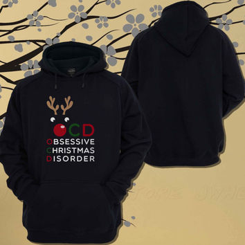 Funny Graphic Hoodie for X-Mas OCD Obsessive Christmas Disorder Hoodie.Sweater.Jumper - Size Unisex Hoodie - For Women,Men
