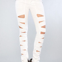 The Z Cut Jean in White