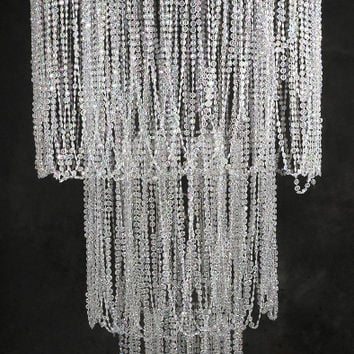 """77"""" Crystal Chandelier with Four Tiers Plug in"""