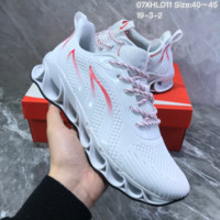 DCCK2 N847 Nike AIR MAX 2019 Braided Mesh Flame Blade Shock Absorbing Springback Bottom Running Shoes White Red