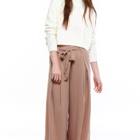 Below The Belt Wide Leg Pant - Taupe