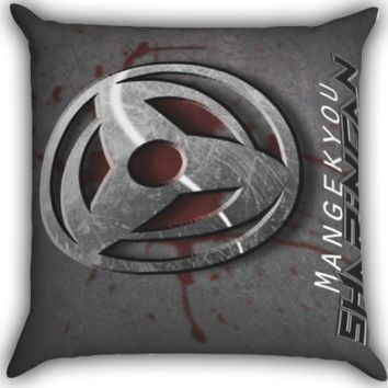 Sharingan Uchiha Naruto shippuden A0329 Zippered Pillows  Covers 16x16, 18x18, 20x20 Inches