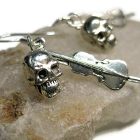 Skulls and Violins - Sherlock Inspired Charm Earrings