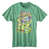 Men's Teenage Mutant Ninja Turtles Burnout Graphic Tee - Green