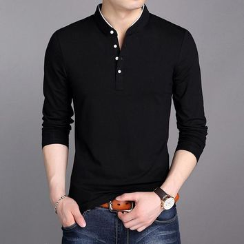 Men's Long Sleeve Henley Shirt