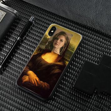 Mona lisa Lana Del Rey Spoof painting Soft Silicone Phone Case Cover Shell For Apple iPhone 5 5s Se 6 6s 7 8 Plus X XR XS MAX