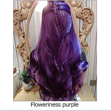 Popular Professional  permanent hair cream Hair Color dye  floweriness purple  blue fashing modeling  Convenient Super Hair Dye