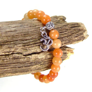 Red Aventurine Energy Bracelet for Prosperity by AnandaBijoux