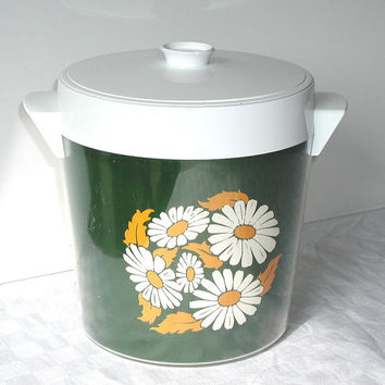 Thermo-Serv Ice Bucket Vintage West Bend Daisy Cooler