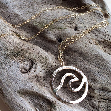 Everlasting Wave Necklace - Everlasting Wave Pendant - Wave Necklace - Wave Pendant