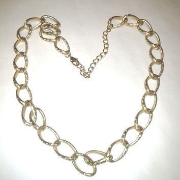 Vintage Large Chain Link Gold Chain ~ Necklace