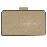 VIVO Genuine Shagreen Oversize Color Block Clutch