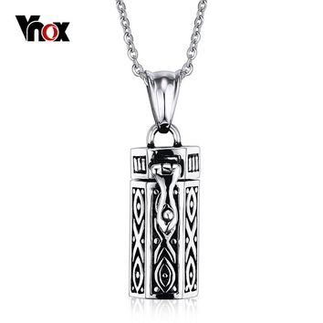 Vnox Can Open Stainless Steel Tubular Urn Memories Humans / Pet Cremation Ashes free 20inch Chain