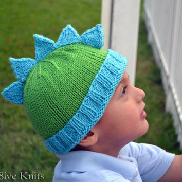 Boys Knit Hat Toddler Hat Child Hat Mohawk by Innov8iveKnits