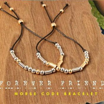 Secret Message Bracelets for Him and Her - Morse Code