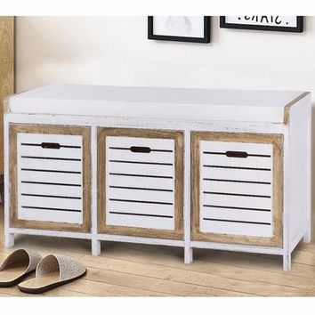 Shoe Stool Storage Bench 3 Storage