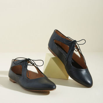Taking Sides Leather Flat