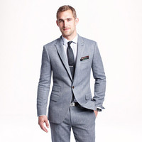 J.Crew Mens Ludlow Suit Jacket In Herringbone Italian Cotton-Silk