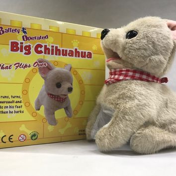 "Chihuahua Big Puppy Flip Over Battery Operated 8"" SK-8830"