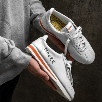 "Nike Classic Cortez KM QS Retro Running Shoes ""White&Orange"" 943088-100"
