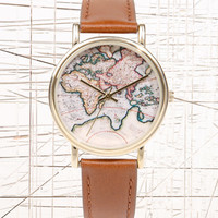 Globe Leather Watch at Urban Outfitters