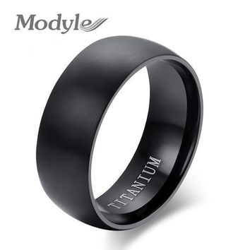 2016 New Fashion Men Titanium Ring High Quality Black Titanium Wedding Rings For Men And Women