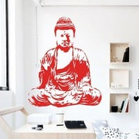 Buddha Wall Decal Removable Vinyl Sticker Bohemian Home Decor