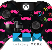 Pink Mustache Ride Xbox One Controller