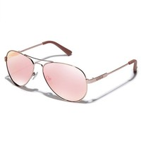 Illiana Mirrored Aviator Sunglasses | GUESS.com