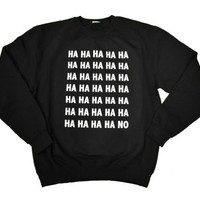 21 Century Clothing Unisex Adult Ha No Sweatshirt Medium (42-44 inches) Black