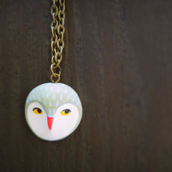 Owl head Necklace