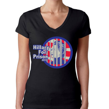 Hillary for prison 2016 Women's Sporty V Shirt