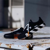 Vans x OFF-WHITE Vulc Low Top ¡°Black&White¡± Sneaker VN-0D3NB99