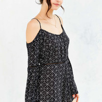 Ecote Trim Cold Shoulder Romper - Urban Outfitters