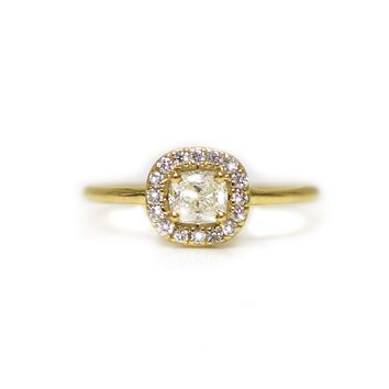 14kt Gold Diamond Princess Amore Ring