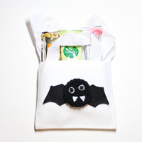 Bat Trick Or Treat Bag, Mini Gift Bag, Halloween Goodie Bag, Candy Tote