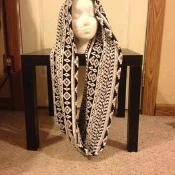 Aztec/Tribal Print knit infinity scarf from Nicole Ray