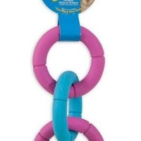 JW Pet Invincible Chains Triple Rings Dog Toy Sz: Small