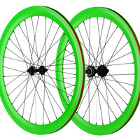 Pure Fix 700C 50mm Wheelset - Green