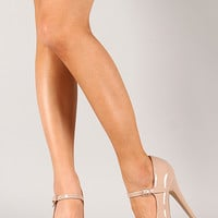Bamboo Ericka-37 Patent Mary Jane Stiletto Platform Pump
