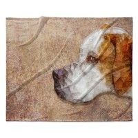 "Ancello ""Abstract Beagle"" Brown Geometric Fleece Throw Blanket"