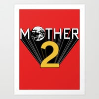 Mother 2 / Earthbound Promo Art Print by Shea Kennedy